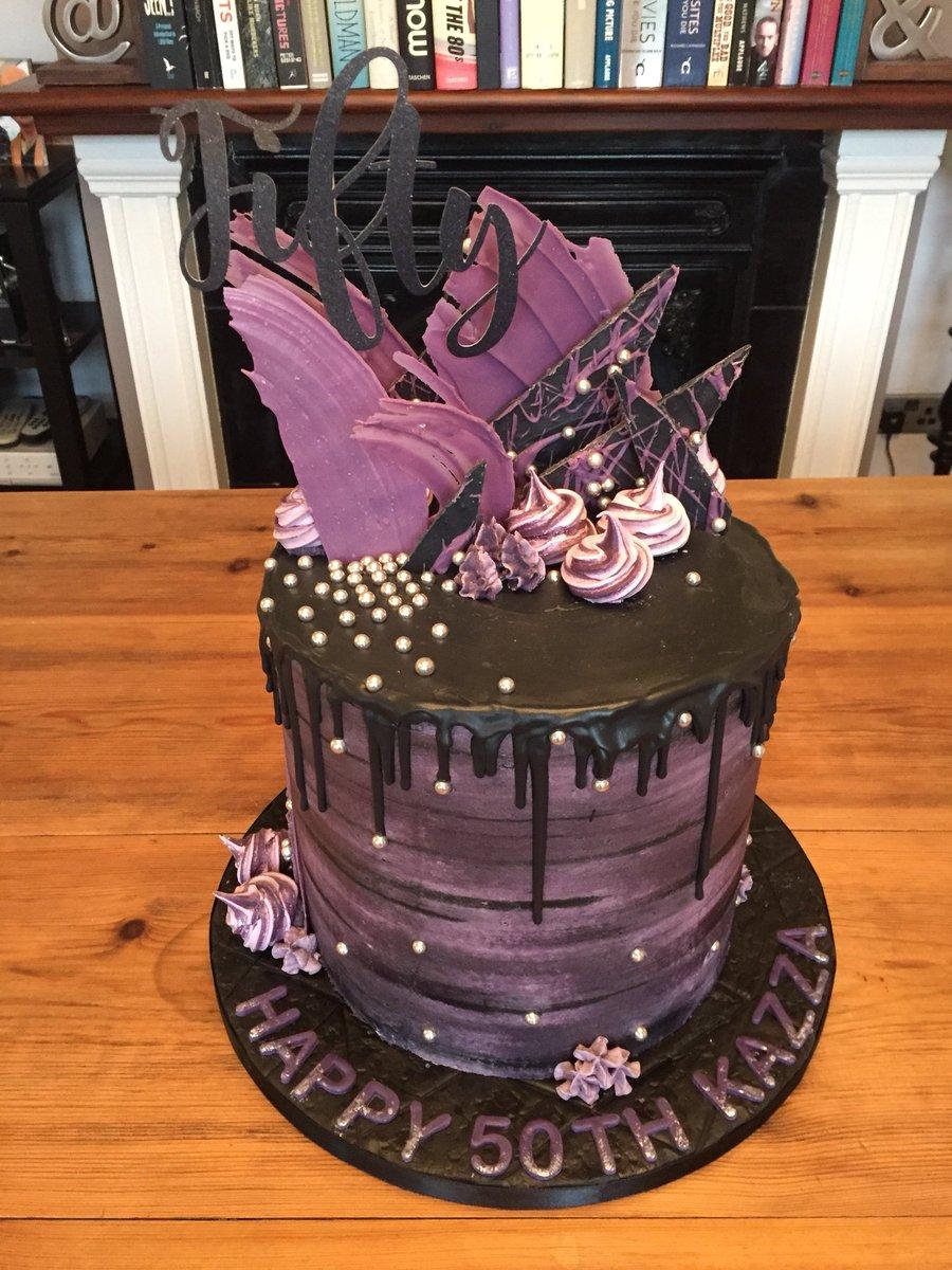 Clintons Cakes On Twitter Avant Garde 50th Birthday Cakecakecakeart Cakeartist 50thbirthday Watercolour Dripcake Chocolate Shards Celebration