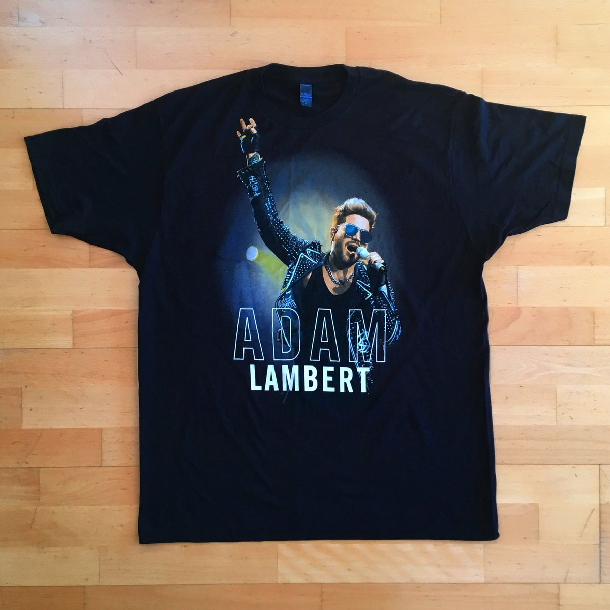 If you go to any of the @QueenWillRock and @adamlambert concerts from the current tour you will be able to buy this cool Adam Lambert official t-shirt featuring one of my photographs from 2016  #adamlambert     #queenandadamlambert <br>http://pic.twitter.com/0uFJKY68JH