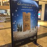 "Still no snow? It's ok, there's popcorn! Adcity UK is promoting @O2 's ""Friend's and Family Cinema Pass"" with 6 sheet Christmas snow globes in @manarndale and Sheffield's Meadowhall Mall! @clearchanneluk @forwardmediaglb #DOOH"