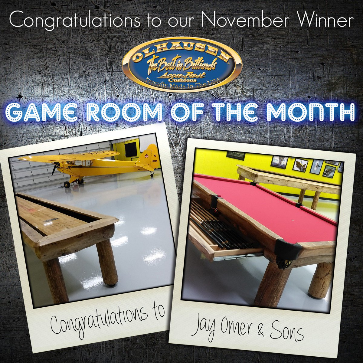 Olhausen Billiards On Twitter Congrats To Orner Billiards For - Ponderosa pool table
