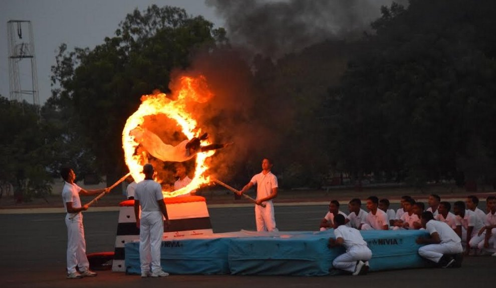 Beating the Retreat and Sunset Ceremony of Indian Navy at INS Valsura