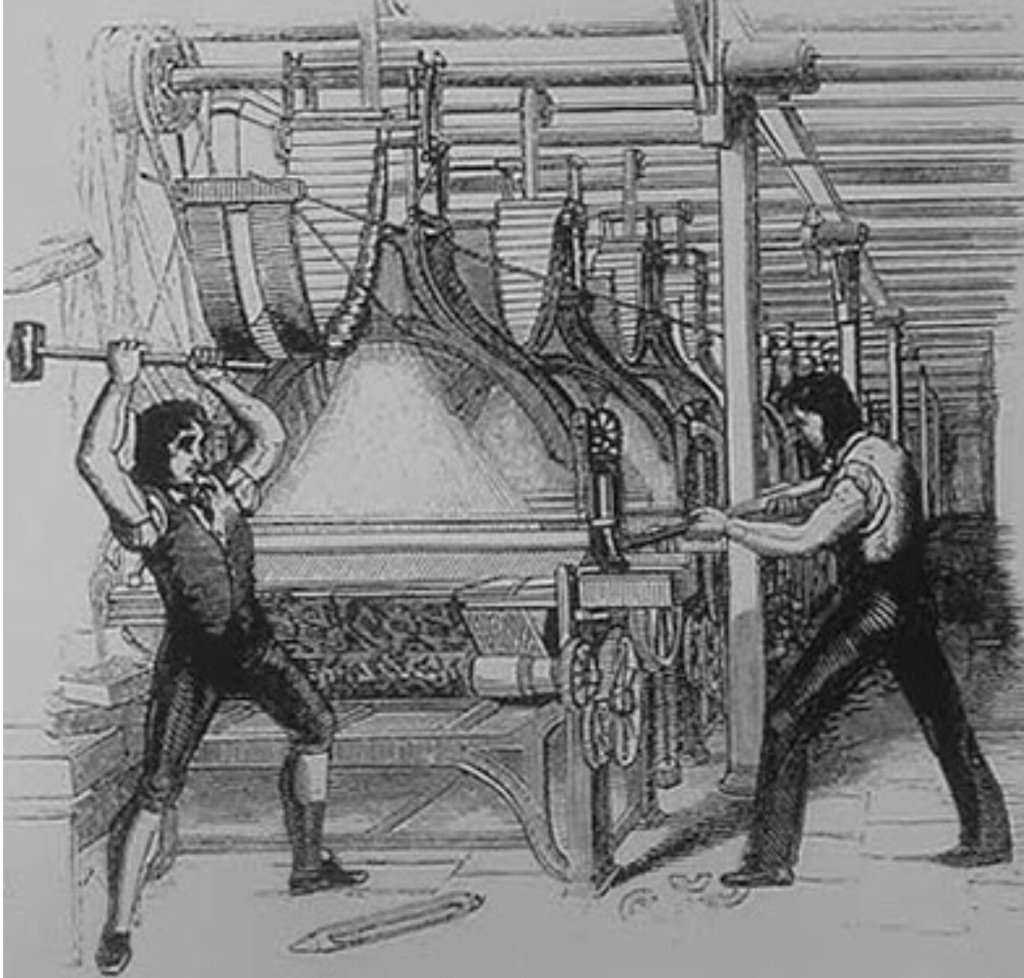 luddism At its origins in the beginning of the 19 th century, luddism was not about technology's evils—it was about worker rights and a fear of job lossesangry english workers marched together and.