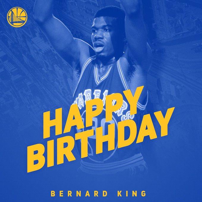 Wishing a very Happy Birthday to Warriors Legend Bernard King!