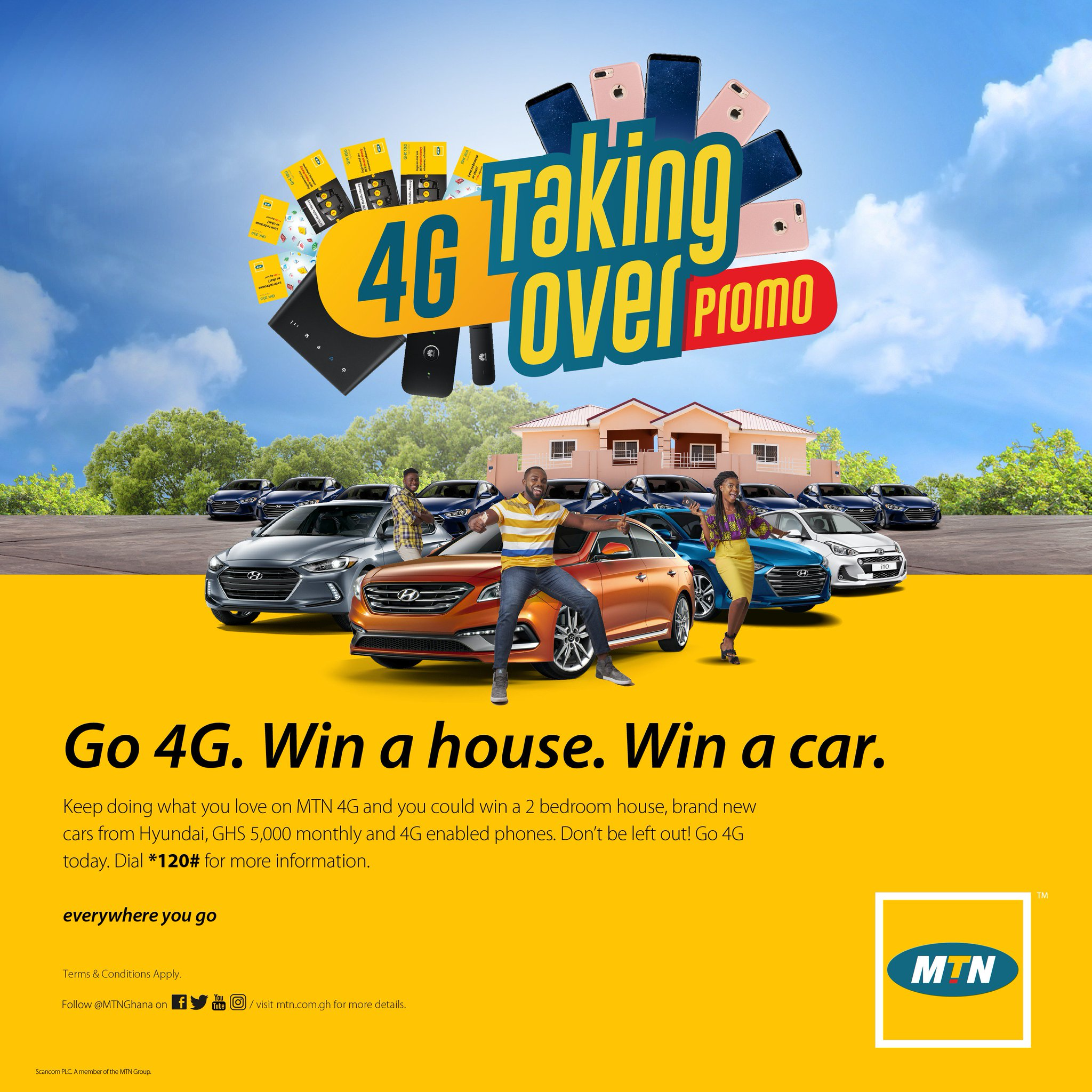 MTN Ghana on Twitter Want a house Want a brand new car