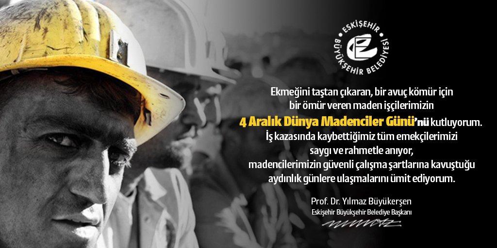 İş kazasında kaybettiğimiz tüm madencilerimizi saygı ve rahmetle anıyorum. #4AralıkDünyaMadencilerGünü https://t.co/ruka3ZwrAn