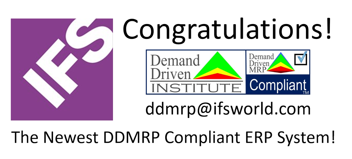you can see the whole list of compliant erp systems and add on application software at httpswwwdemanddriveninstitutecomcompliant software