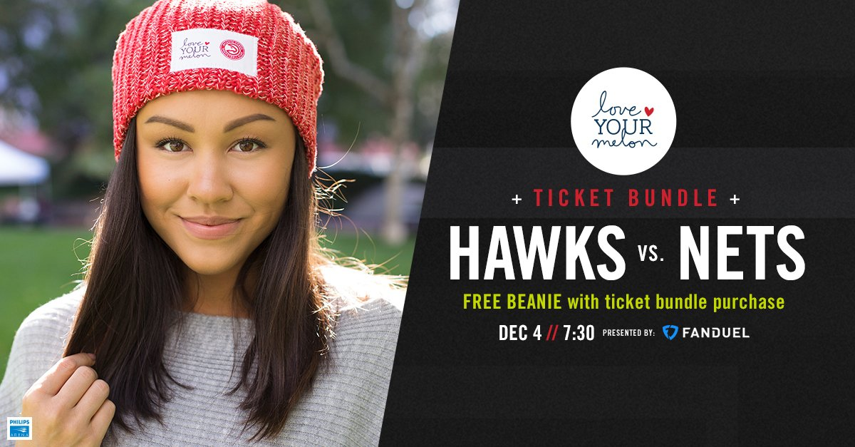 3426576719ed2 tonight is night receive a limited edition hawks love your melon beanie  with your ticket purchase