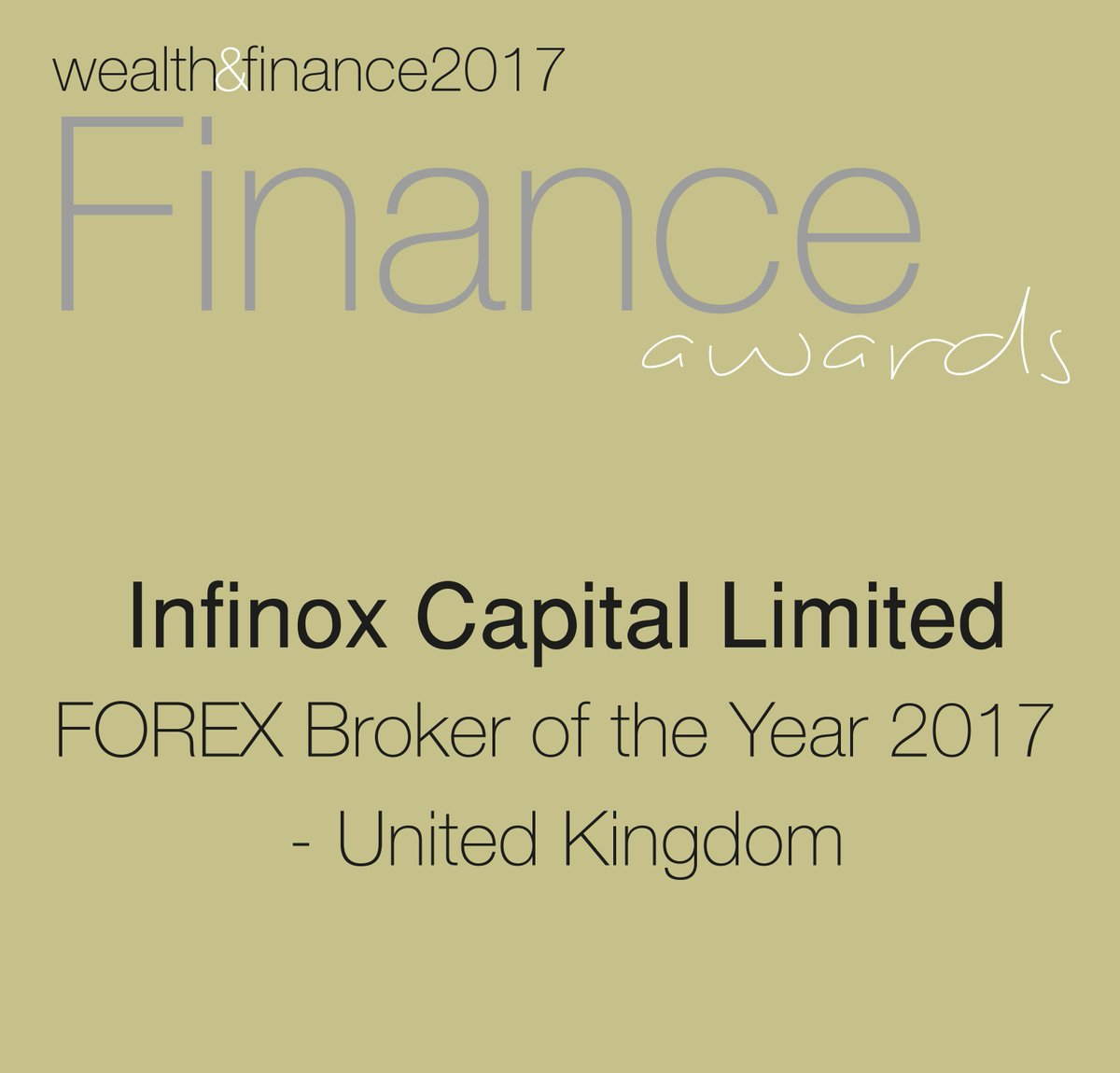 Infinox Uk On Twitter Thank You To Wandfmagazine For Choosing Capital As Your Forex Broker Of The Year 2017 United Kingdom