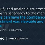 #Adelphic's addition of @doubleverify's pre-bid targeting capabilities provides clients with the tools to measure viewability rates, while tracking and preventing non-human traffic. Read more: https://t.co/uLNomR8DhK