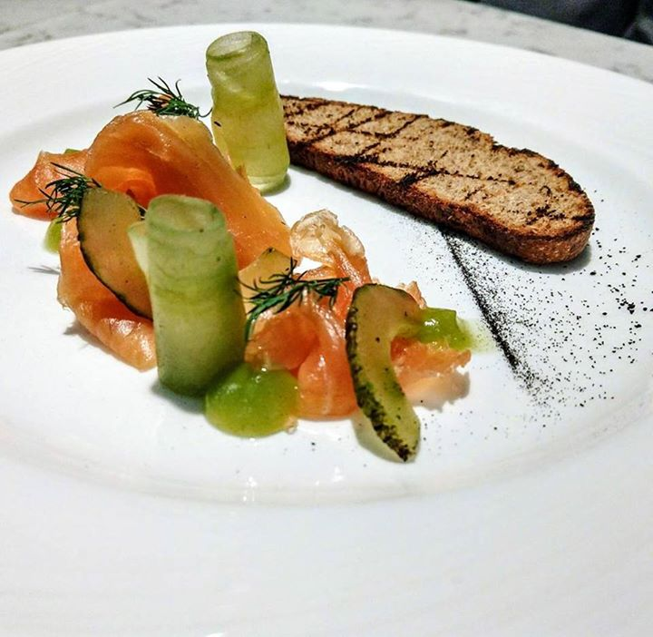 ... is our Ardbeg whisky cured Scottish Salmon. Served with dill and  cucumber 754713192