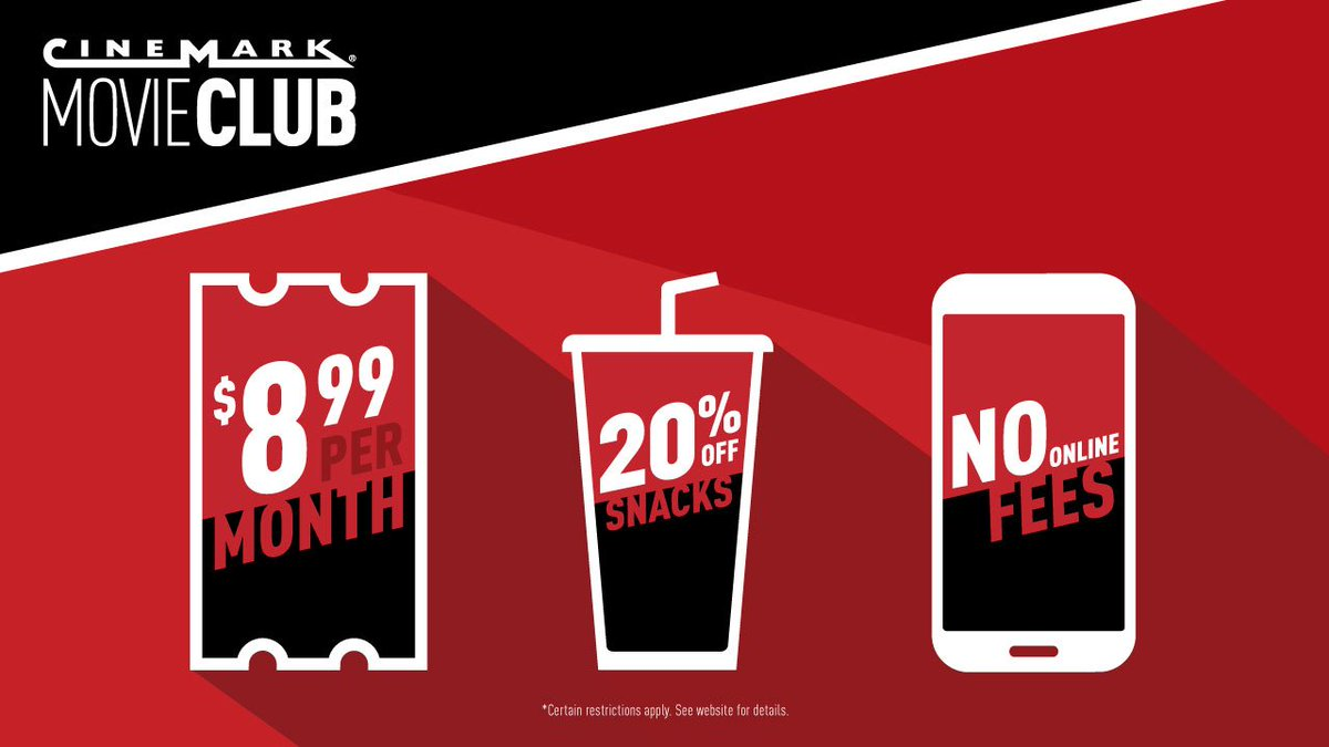 Cinemark Theatres On Twitter The Monthly Membership Made For Movie Lovers Save Tickets Snacks And More Just 899 Per Month With