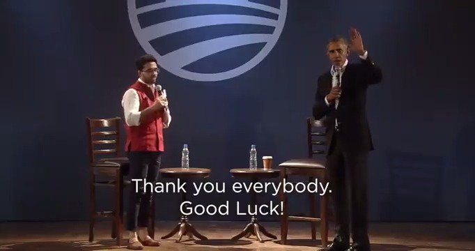 Watch: We hosted a Town Hall in New Delhi with @BarackObama and young leaders about how to drive change and make an impact in India and around the world. #ObamaInIndia