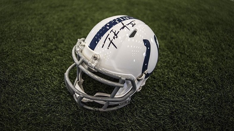 6dd6b2756db In honor of Frank Gore jumping 2 spots on the @NFL's All-Time Rushing List,  we're giving away an autographed mini helmet by the future HOFer.