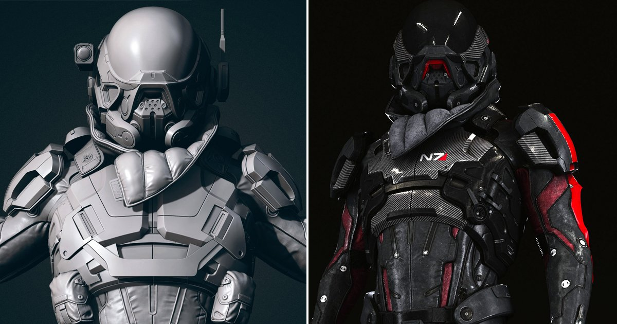 Zbrush On Twitter Pathfinder Armor Mass Effect Andromeda Fan Art