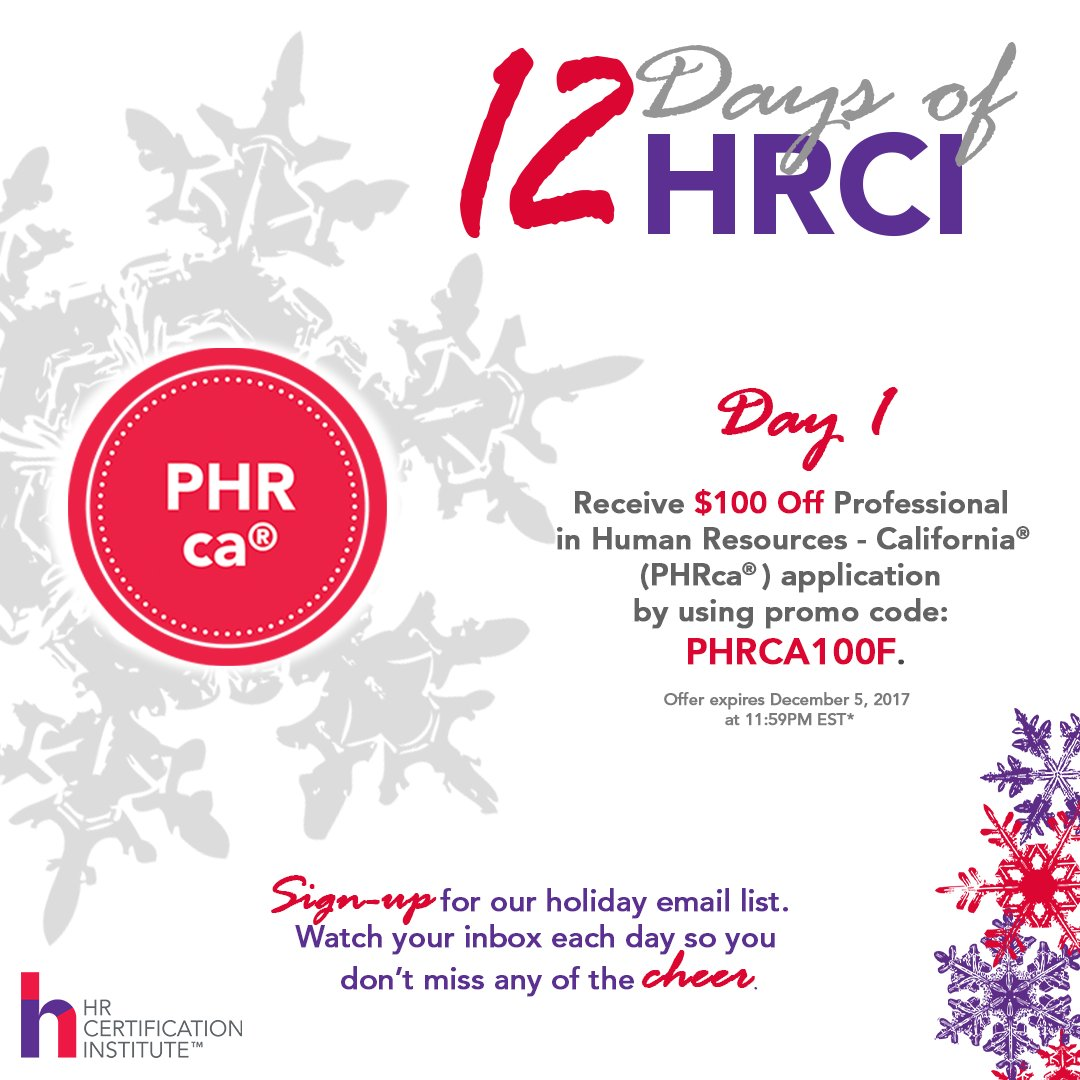 Phrca hashtag on twitter california hr professionalsday were offering 100 off the phrca application fee no phr or sphr required to take the exam 1betcityfo Image collections