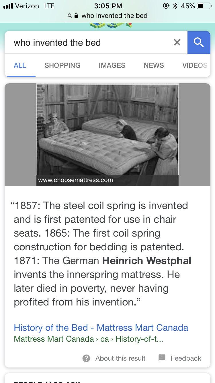 Who Invented The Bed >> Heinrich Westphal Mattress Matri Karikaturize Com