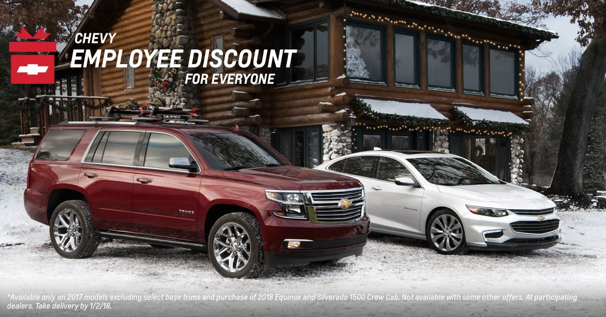 Check Out A 2017 #ChevyTahoe And Get The Available Chevy Employee Discount  For Everyone All Month Long.* Http://pbxx.it/U8v51E  Pic.twitter.com/0stcafZmPk