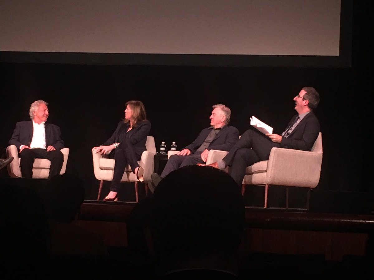 e6b3d59806f0 This photo was taken before  92Y panel discussion got v heated  John Oliver  asked Dustin Hoffman about the sexual assault allegations against him.