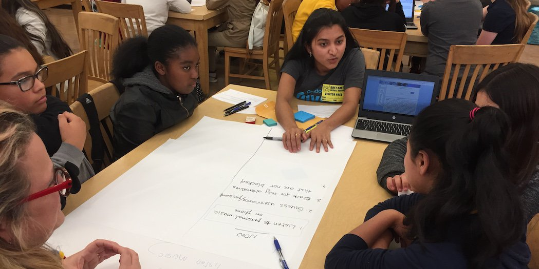 Oakland ed fund on twitter bret harte middle school students from of how pandoramusic engineers including a bret harte alum solve problems and approach app creation today in a special event with girlswhocode ccuart Choice Image