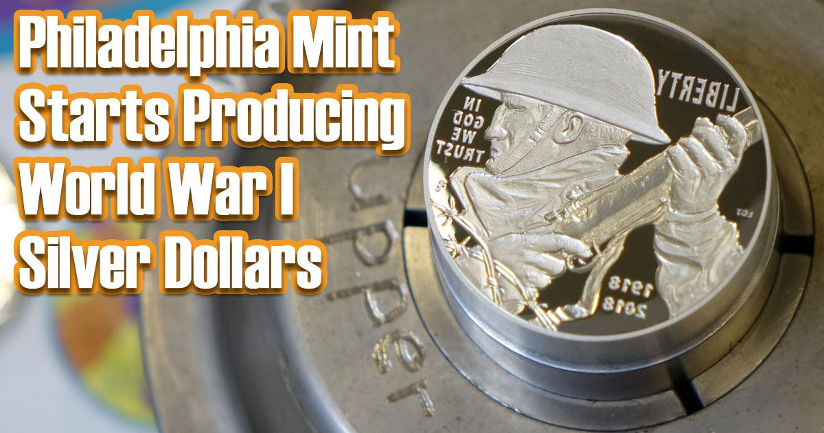 World War I silver dollars in production...