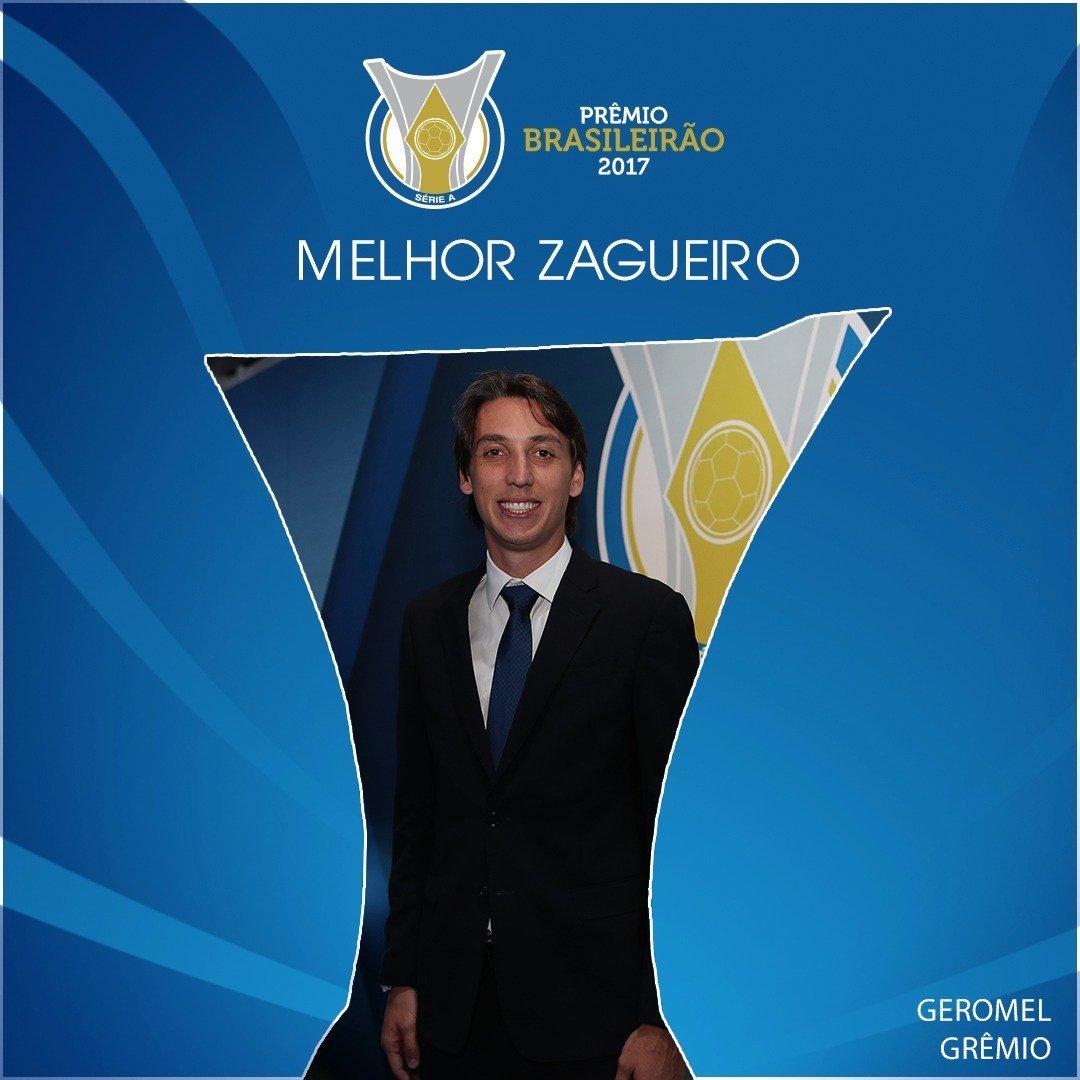 Pedro Geromel, o GEROMITO do @Gremio forma a melhor dupla de zaga! ⚽🚫 #PrêmioBrasileirão