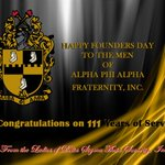 Delta Sigma Theta Sorority, Inc. salutes Alpha Phi Alpha Fraternity, Inc. for 111 years of service! Happy Founders Day! @apa1906NETwork #DST1913 #APA111