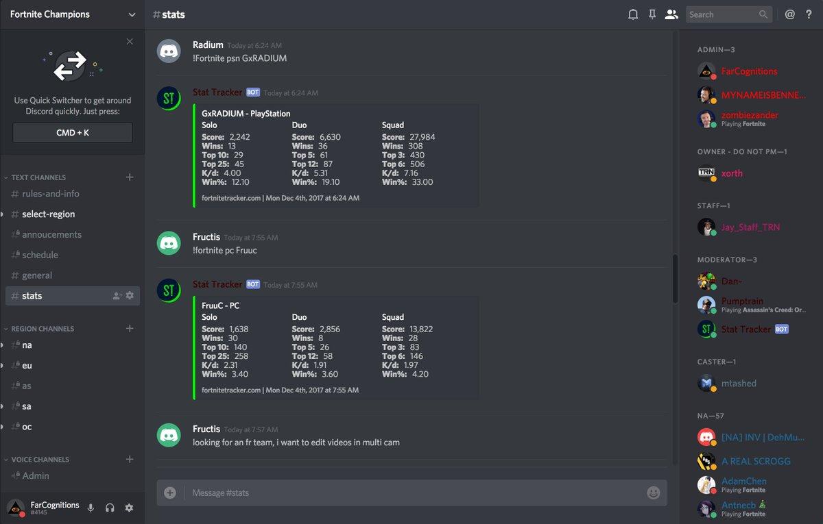 Discord Fortnite Stats Bot | Fortnite Free John Wick Skin