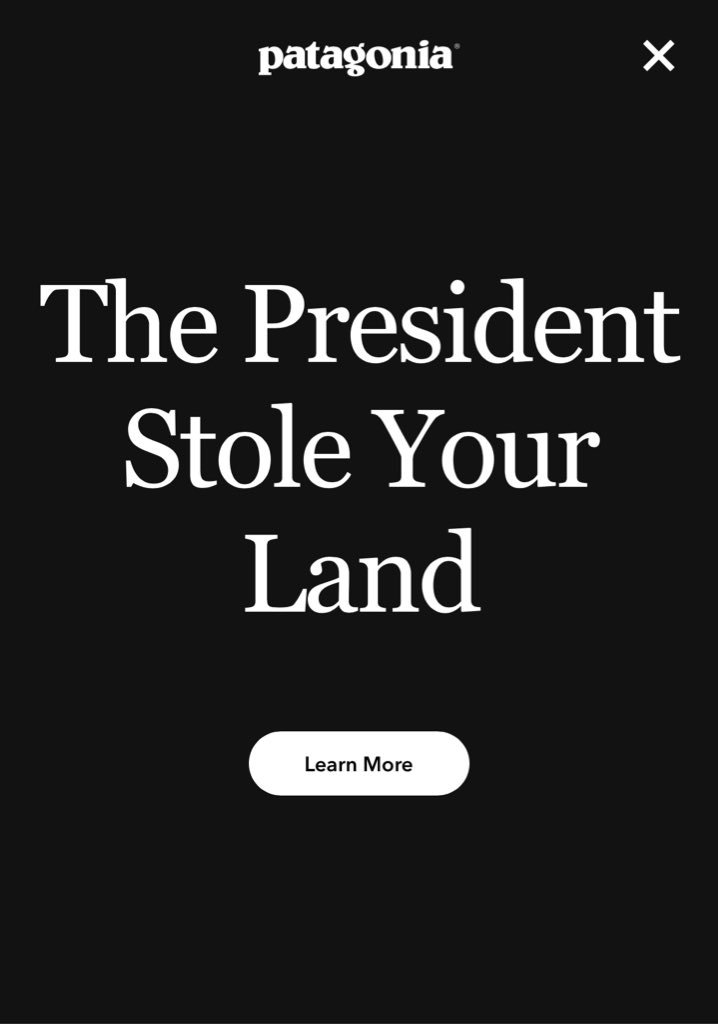 Whoa. @patagonia's home page now https://t.co/HFQMnM50ks https://t.co/JcLYuwXKpf