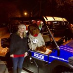 McGruff getting some quality time with @laurabyrum at The Sweetwater Christmas Parade. 🎄🚓🎉! McGruff had a great time at the parade @McGruffatNCPC   #SweetwaterPolice #MerryChristmas2017