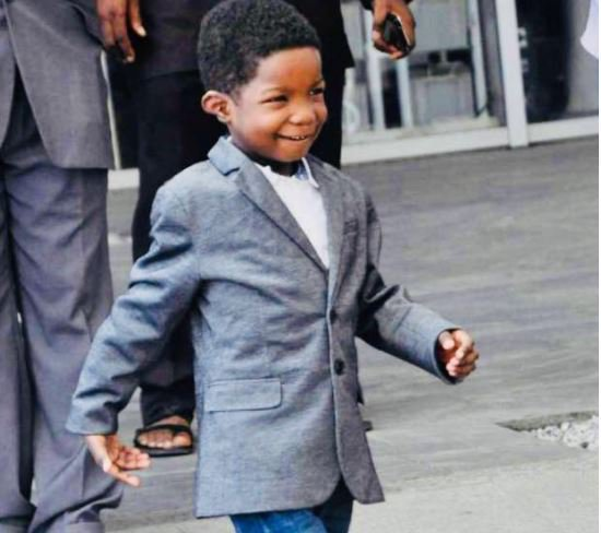 Boko Haram child victim, Ali Ahmadu, walks after Dubai surgery