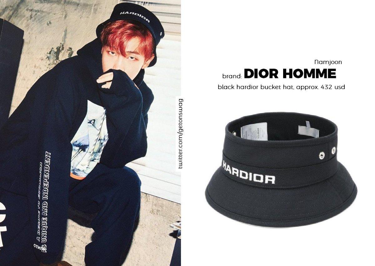 Beyond The Style Alex On Twitter Namjoon Bts 171106 Rapmonster Rm 방탄소년단 Dior Homme Black Hardior Bucket Hat