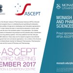 Our @MIPS_Australia Director, Prof Chris Porter, is a Keynote Speaker this week at the @APSA_News @ASCEPTanz 2017 Joint Scientific Meeting in Brisbane 5-8 December.  We are proud to be major sponsors of #APSAASCEPT 2017: a leading scientific meeting for Australia & NZ. #medicines