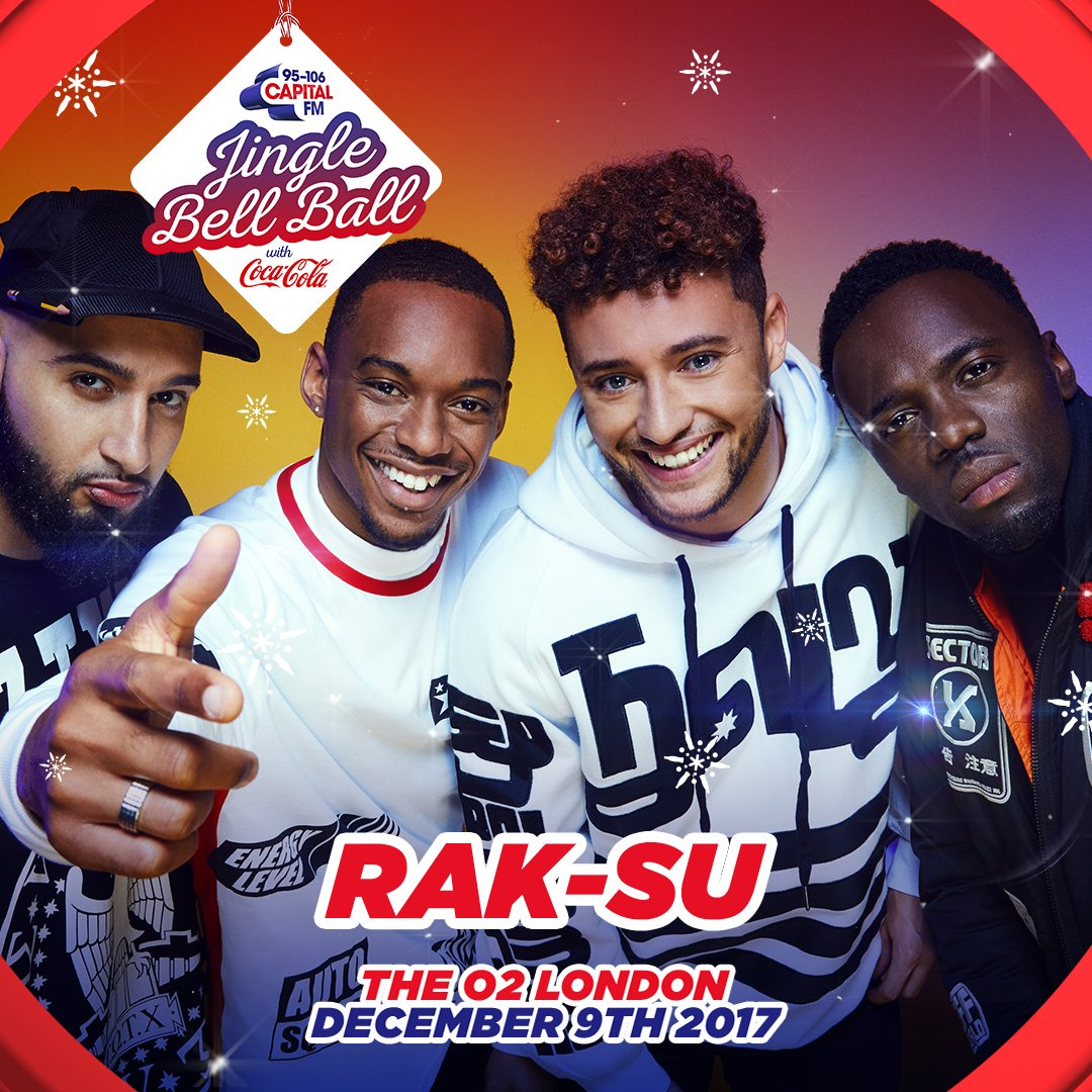 Rak Su will be going to Capital Radios Jingle Bell Ball this year.