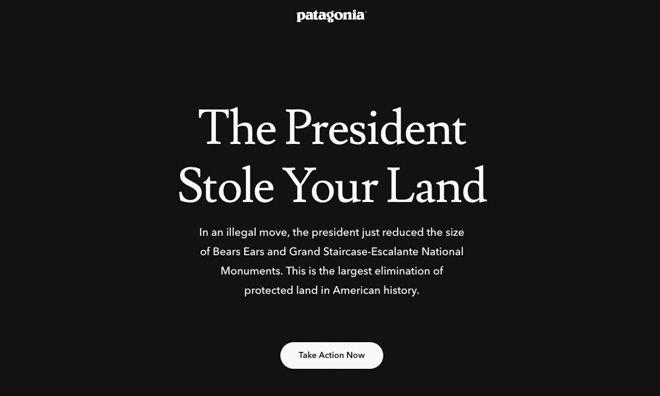 パタゴニアが米トランプ大統領を非難、国定記念物指定保護地域の大幅縮小を受けて https://t.co/b7rYwLAqKD #patagonia #トランプ