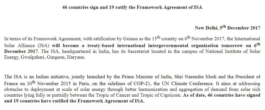 Sidhant Sibal On Twitter International Solar Alliance Isa