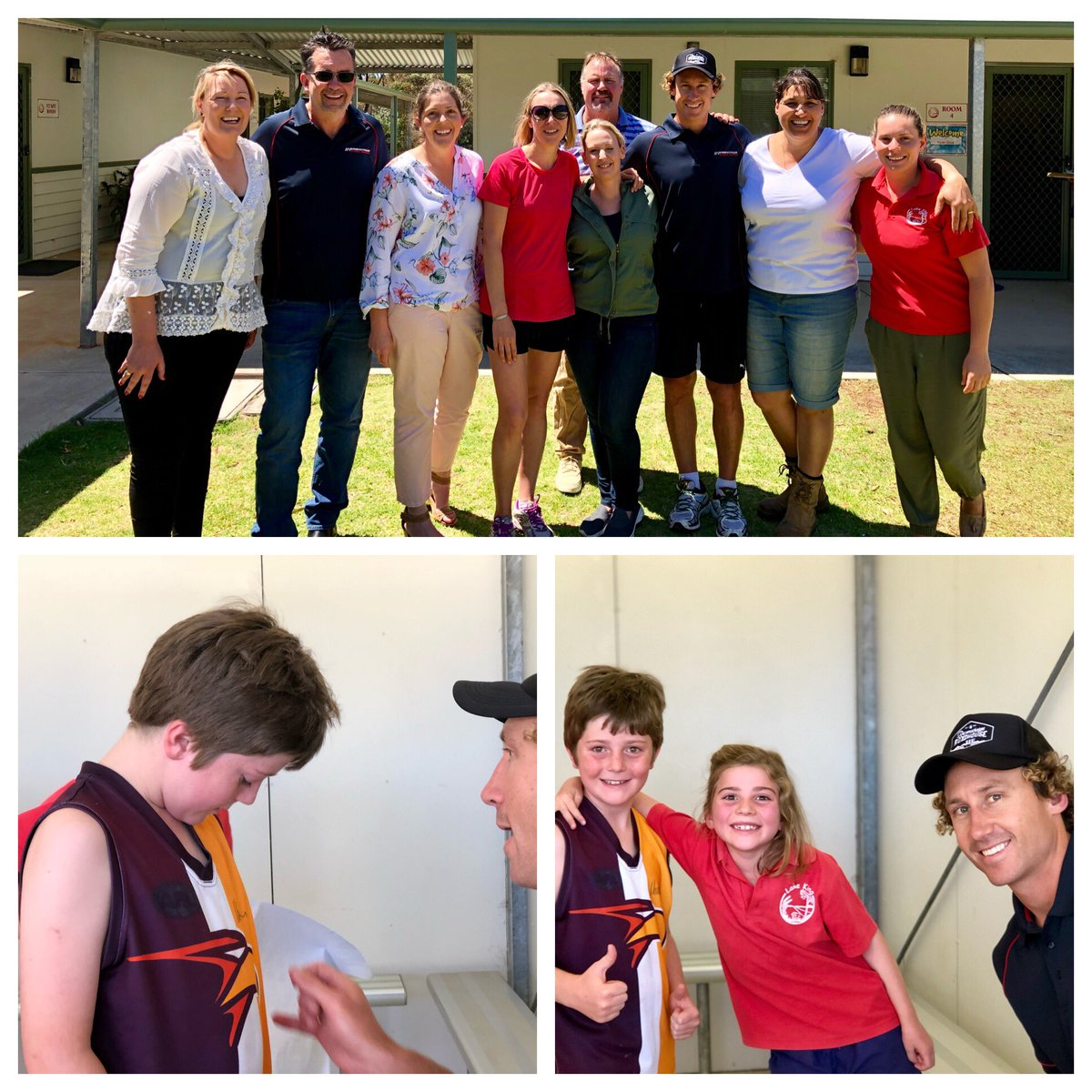 #MattPriddis #WCE Visits LKPS - great day for the kids Thanks to #InFrontAustralianBusinessSolutions for bringing him down!! #lakeking