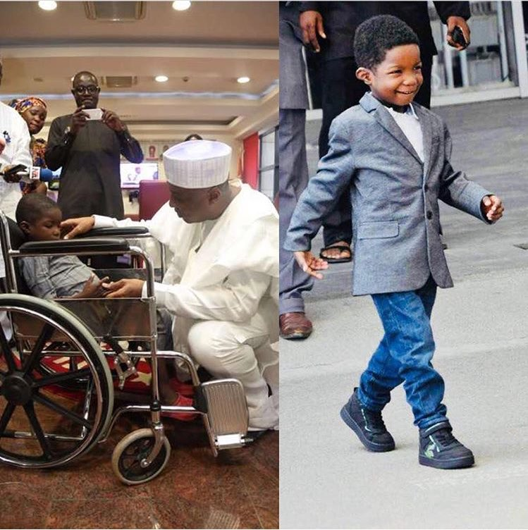 A boy with repaired spinal chord/Boko Haram