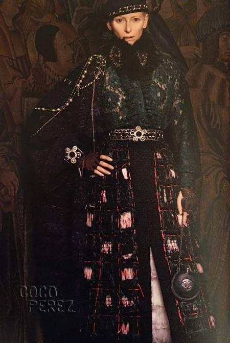 ティルダ様×CHANEL、中世絵画から出てきたようにしか見えない