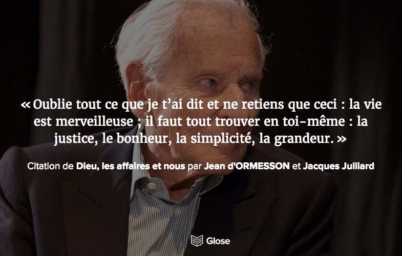 Glose France No Twitter Pour Rendre Hommage à Jean D