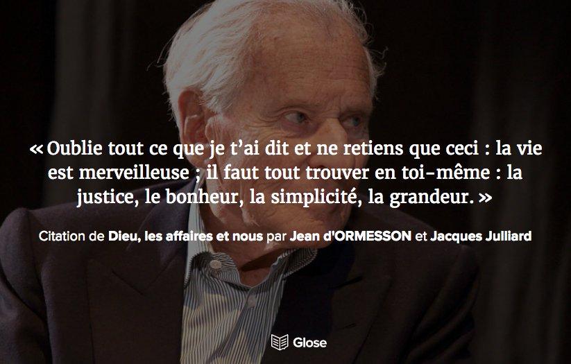 Glose France No Twitter Pour Rendre Hommage A Jean D Ormesson