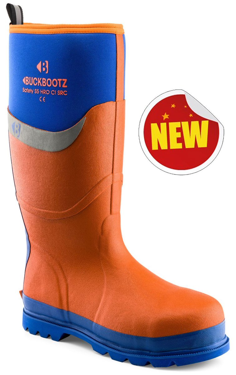 Blue with Orange Trim Buckler BBZ6000 S5 HRO Neoprene Safety Wellington