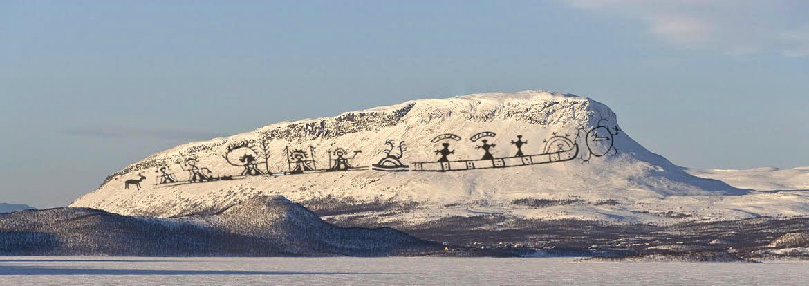 We reclaim sacred mountain of Saana in #Sápmi &amp; return it to the Sami pantheon. #decolonize  http:// rauna.net/2017/12/04/fin land100-and-the-sami-sacred-mountain-of-saana/ &nbsp; … <br>http://pic.twitter.com/77UUjE18HE