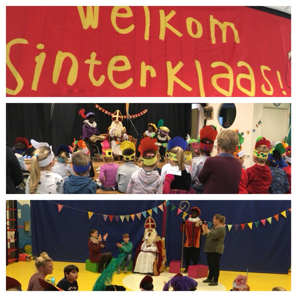 Wat een feest in iedere klas. Maar oh oh oh wat heeft #Sinterklaas het druk op school.