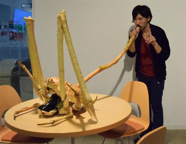 世界最大のカニ「タカアシガニ」を楽器にしてしまった音楽家がいる sankei.com/life/ne…