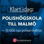 Besked från rikspolischefen idag om att ny polisutbildning startas i Malmö, på @malmohogskola! Viktigt för tryggheten i Malmö och nationellt. https://t.co/0ti4NO630Q