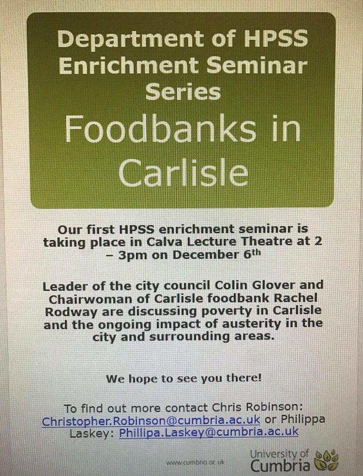 Labour Carlisle On Twitter Foodbanks In Carlisle Seminar