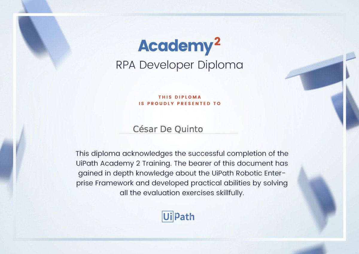 Uipath Academy Certification {Nhs Alumni}