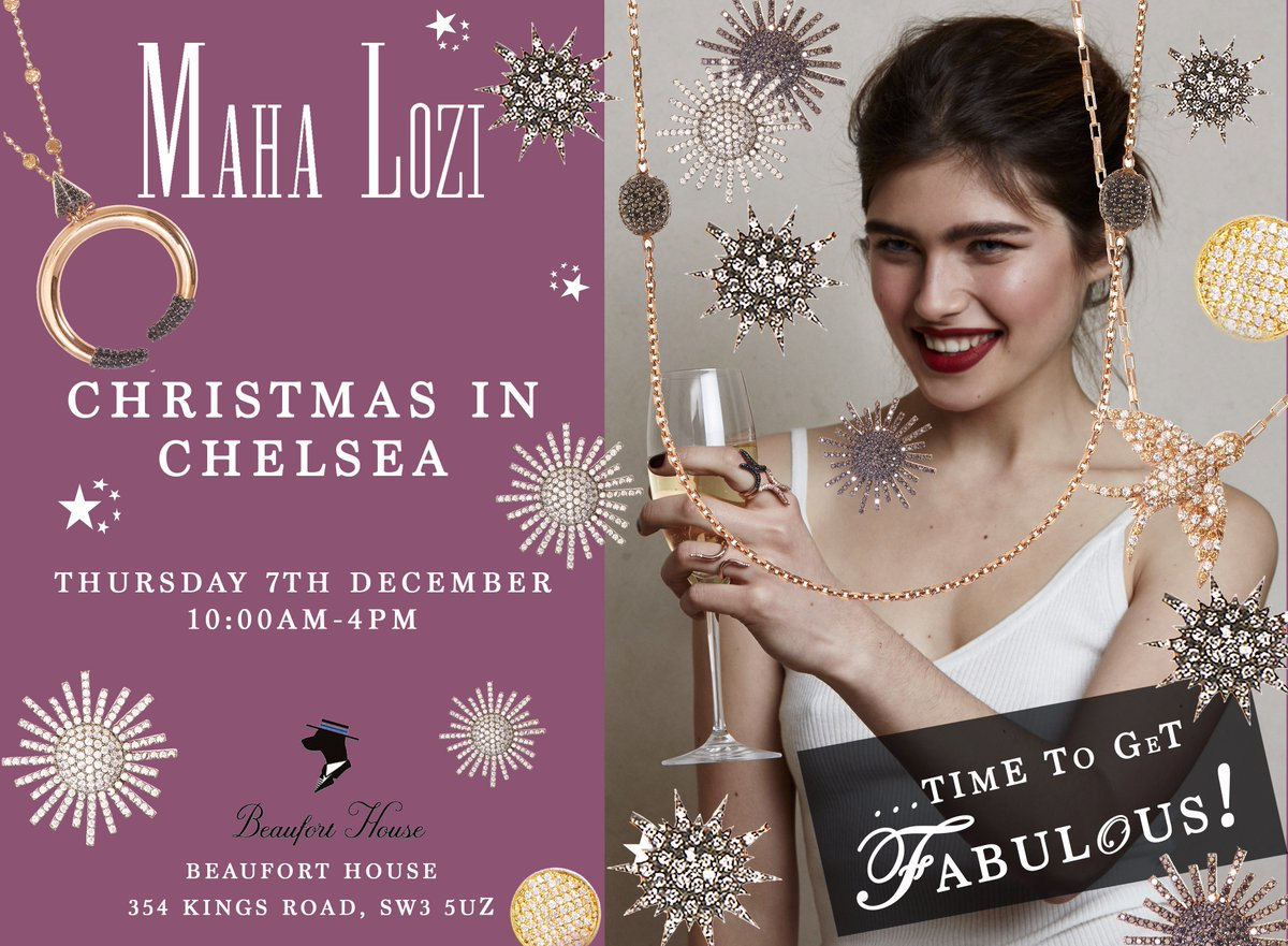 Tis the season to be fabulous! Join us this Thursday at @Beauforthouse at our Pop-Up for the perfect gifts for him and her x #popupshop #christmasinchelsea https://t.co/zzQIeD1JFU