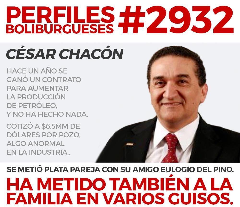 Cesar Chacón Presidente de @empresasYV. Es muy amigo del Ex-Ministro #EulogioDelPino, se enchufo  con Eulogio https://t.co/L4UBNUHoJd