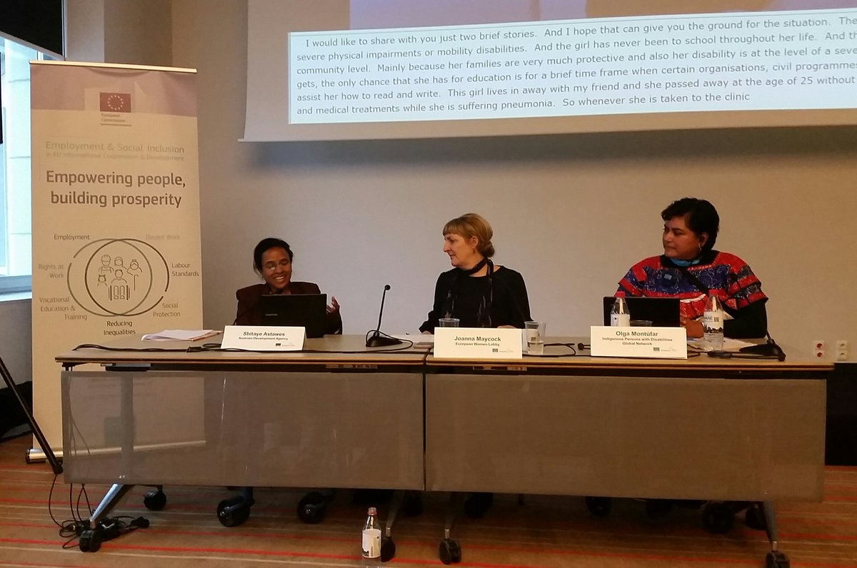 Shitaye @ADCinEthiopia : inclusion of women w #disabilities is essential! #intersectionality between #Women &amp; #disability @BtG_project launch #EDDW17 <br>http://pic.twitter.com/dtsrhFf8Jl